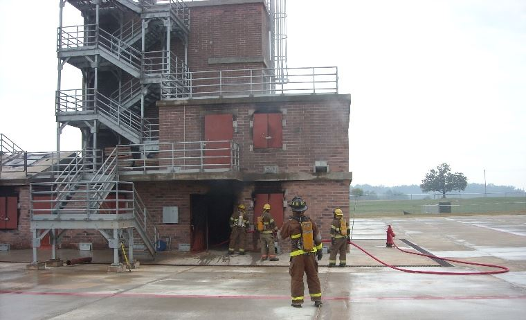 Fire Department Drills at Burn Building