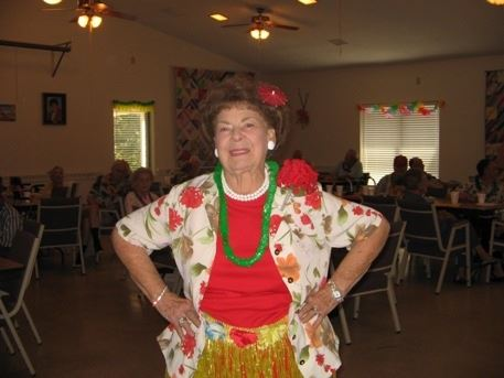 Woman Dressed in Hawaiian Attire